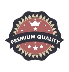 Premium quality text badge label seal retro vector