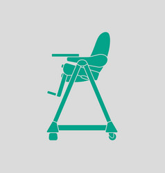 Baby high chair icon vector
