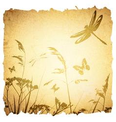 Vintage summer meadow vector