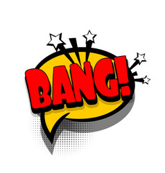 Comic book text bubble advertising bang vector