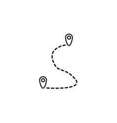 Route line icon map pointer location sign vector