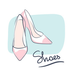 Wedding celebration attribute beautiful shoes for vector