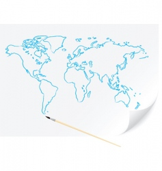 world map sketch vector image