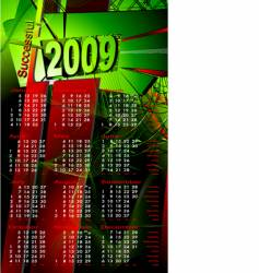 2009 calendar vector image vector image