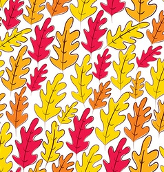 Fall oak leaves seamless pattern background vector image