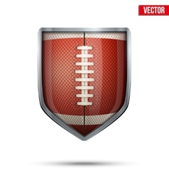 Bright shield in the american football ball inside vector