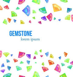 Gemstone seamless pattern for presentation vector