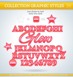 Glow graphic styles for design use for decor text vector