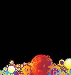 rainbow circle background vector image