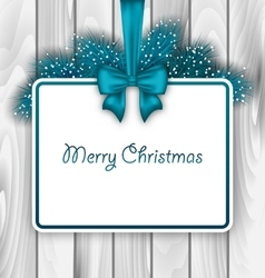 Merry Christmas Elegant Card vector image