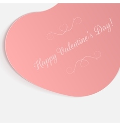 Valentines day realistic big pink greeting card vector