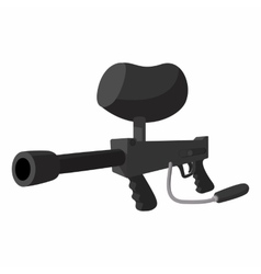 Paintball marker cartoon vector