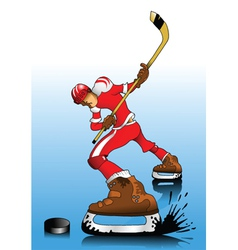 ice hockey player vector image