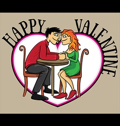 Valentine romantic couple in love holding hands vector