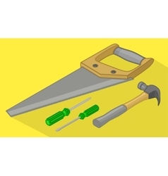 Tools isometric flat 3d vector