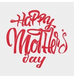 Happy mothers day - poster stamp badge insignia vector