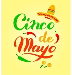 Cinco de mayo hand drawn lettering vector