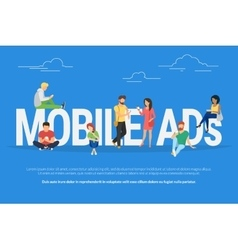 Mobile ads concept vector
