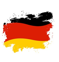 Germany flag grunge style on white background vector