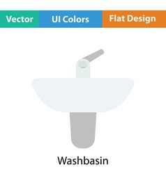 Wash basin icon vector