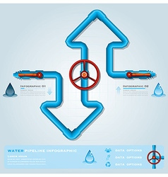 Water pipeline business infographic vector