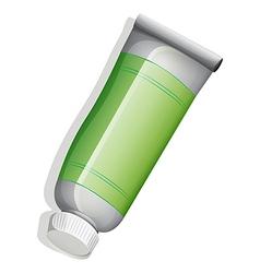 A green medicinal tube vector