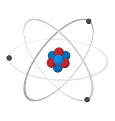 Atom cartoon icon vector