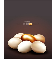 background with a golden egg vector image