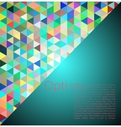 Blue Abstract Geometrical Background vector image vector image