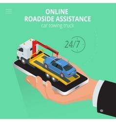 Car towing truck online evacuator online online vector