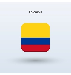 Colombia flag icon vector