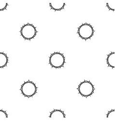 Crown of thorns pattern seamless black vector