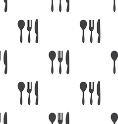cutlery seamless pattern vector image