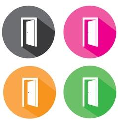 Door open flat vector