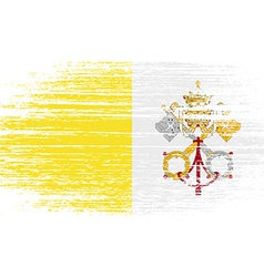 Flag of Vatican with old texture vector image
