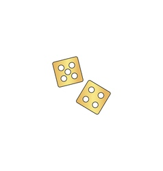 Game dice computer symbol vector