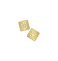 game dice computer symbol vector image vector image