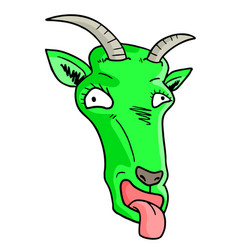 green mask goat vector image vector image