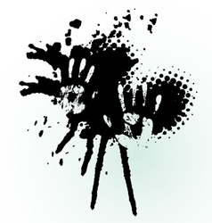 hand splash vector image