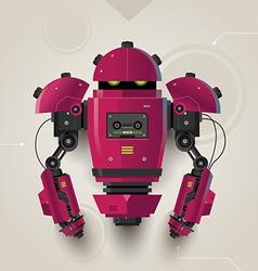 Hi Tech Futuristic Robot 02 vector image vector image