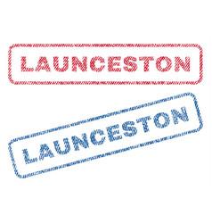 launceston textile stamps vector image vector image