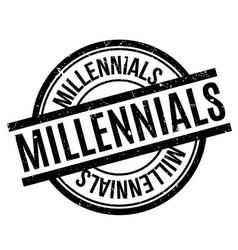 Millennials rubber stamp vector