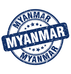 Myanmar stamp vector