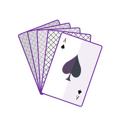 playing cards in flat design vector image