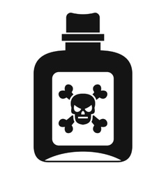 Poison icon simple style vector