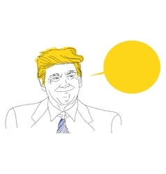 Portrait of a smiling donald trump sketch vector