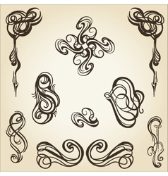 scroll collection 1 vector image vector image