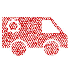 Service car fabric textured icon vector
