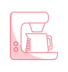 Shadow coffe maker graphic design vector