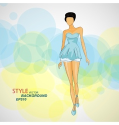 sketch girl in fashion clothes eps vector image vector image